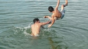 Swimming @ Tejaswini River